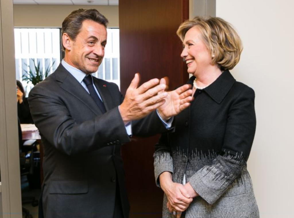 Nicolas Sarkozy și Hillary Clinton
