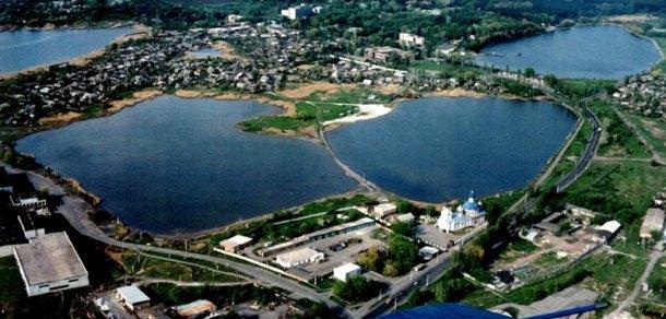 Lacuri din apropiere de orașul Slaviansk