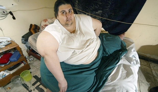 Manuel Uribe a fost cel mai greu om - 597  kg