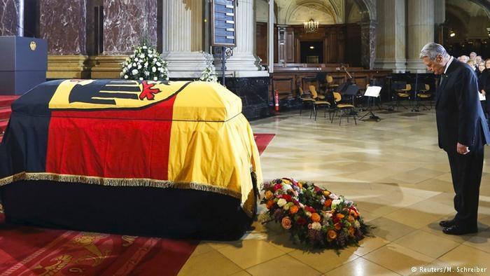 Preşedintele Gauck la funeraliile dedicate predecesorului său, Richard von Weizsäcker