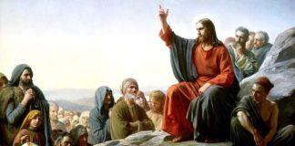 """Fragment din tabloul ""Predica de pe munte"", de pictorul danez Carl Heinrich Bloch (1834-1890)"