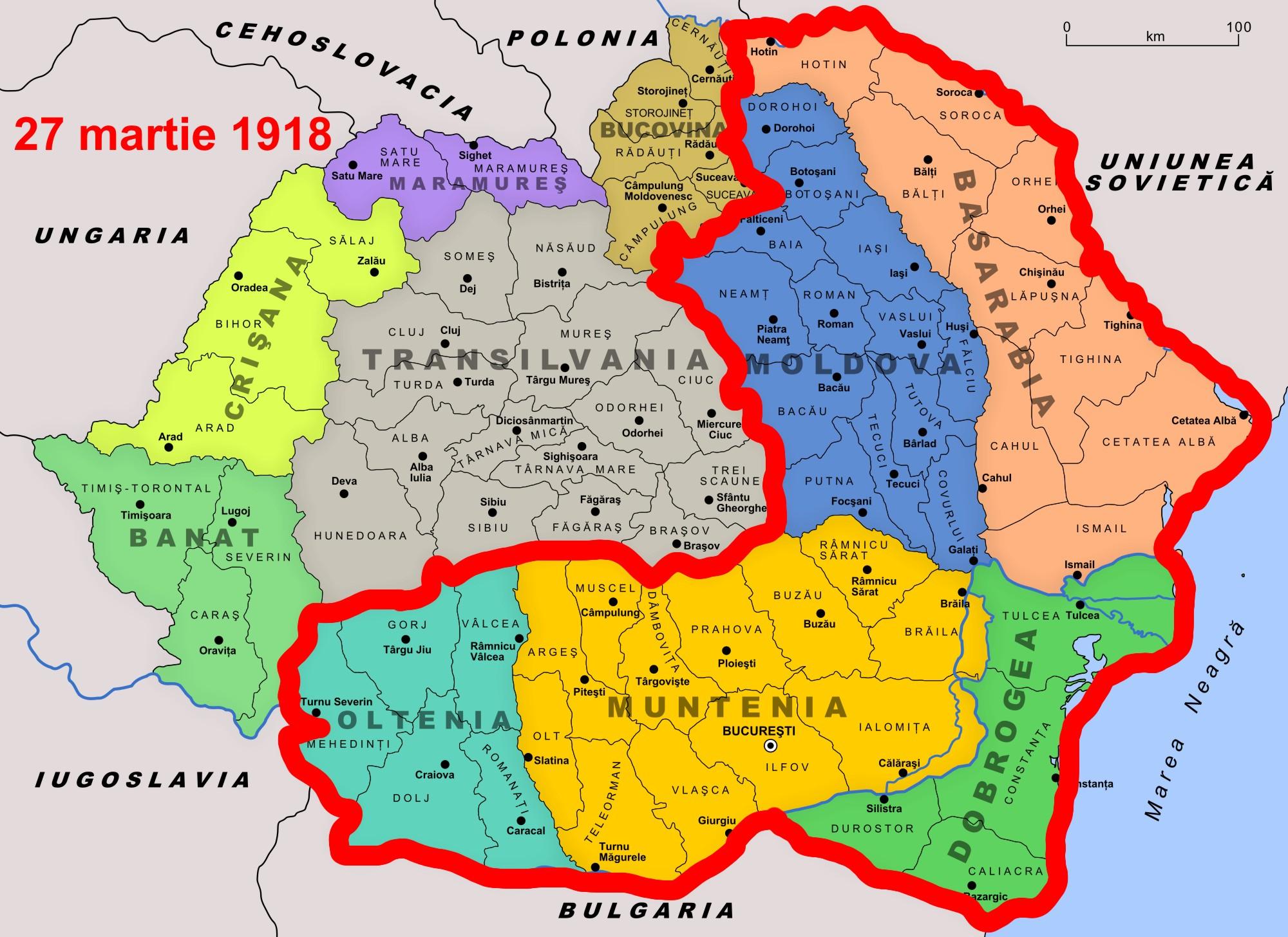 Harta Romaniei Romania Cu Basarabia1 7est Ro Stiri Iasi Stiri