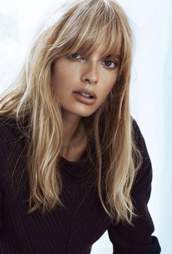 Tunsori Pentru Păr Mediu în 2019 Păr Blond Tunsoare Cu Breton Păr