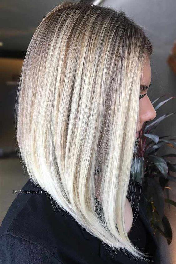 Tunsori Pentru Păr Mediu 2019 Tunsoare Bob Lung Păr Blond Drept